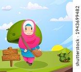 back to school. muslim children ...   Shutterstock .eps vector #1943699482
