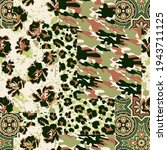 camouflage tartan paisley... | Shutterstock .eps vector #1943711125
