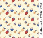 seamless summer pattern vector... | Shutterstock .eps vector #1943712988
