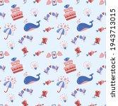 seamless wedding pattern vector ... | Shutterstock .eps vector #1943713015