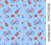 seamless wedding pattern vector ... | Shutterstock .eps vector #1943713018