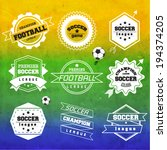 creative soccer vector design | Shutterstock .eps vector #194374205