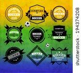 creative soccer vector design | Shutterstock .eps vector #194374208