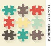 puzzle flat vector illustration   Shutterstock .eps vector #194374466