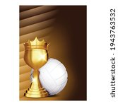 volleyball sport champion cup... | Shutterstock .eps vector #1943763532