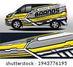 delivery van vector design. car ... | Shutterstock .eps vector #1943776195