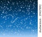 falling snowflakes winter... | Shutterstock .eps vector #19437892