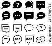speech web icon vector set....