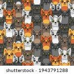 cat seamless pattern. cute... | Shutterstock .eps vector #1943791288