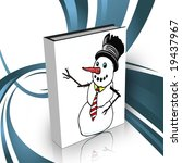 book with snowman  in the front ... | Shutterstock . vector #19437967