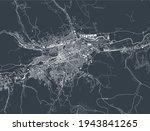 map of the city of Cluj-Napoca, Romania
