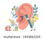 otolaryngology concept. ear... | Shutterstock .eps vector #1943862235