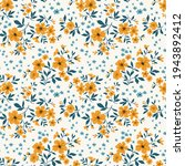 trendy seamless vector floral... | Shutterstock .eps vector #1943892412
