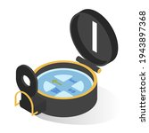 compass for travelling  hiking... | Shutterstock .eps vector #1943897368