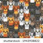 cat seamless pattern. cute... | Shutterstock .eps vector #1943938822