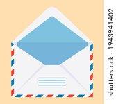 postal envelope. an open... | Shutterstock .eps vector #1943941402