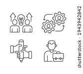 business partnership linear...   Shutterstock .eps vector #1943942842