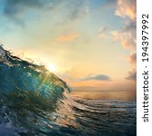 tropical summer design template ... | Shutterstock . vector #194397992