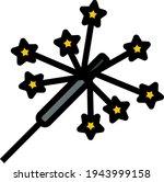 party sparkler icon. editable...