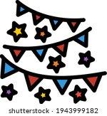 party garland icon. editable...