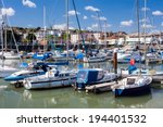 boats in ryde harbour on the... | Shutterstock . vector #194401532
