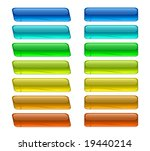 set of glossy buttons | Shutterstock .eps vector #19440214