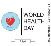 world health day. healthcare ... | Shutterstock .eps vector #1944052435