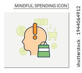 mindful spending color icon.... | Shutterstock .eps vector #1944064912