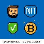 nft  token  blockchain icon set.... | Shutterstock .eps vector #1944106555