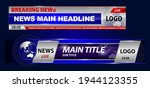 set of breaking news template... | Shutterstock .eps vector #1944123355