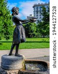 Small photo of Chicago, IL July 30, 2016 Fountain Girl: Frances Willard Memorial in Lincoln Park in summer