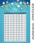 imsakia design for ramadan... | Shutterstock .eps vector #1944151318