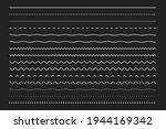 line border set  dotted lines ... | Shutterstock .eps vector #1944169342
