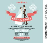 the wedding invitation with... | Shutterstock .eps vector #194422556