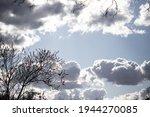 A Gap In Clouds In A Sunny Day. ...