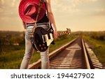 raiway to horizon  | Shutterstock . vector #194427902
