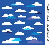 collection of vector clouds....