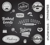set of vintage bakery badges... | Shutterstock .eps vector #194446988