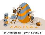 Easter Greeting Banner With A...