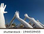 Big White Hands Sculpture...