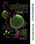 never again text with eagle... | Shutterstock .eps vector #1944568858