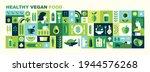 healthy organic vegan food.... | Shutterstock .eps vector #1944576268