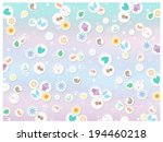 pastel icons   collage | Shutterstock . vector #194460218