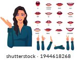 beautiful woman mouth animation ...   Shutterstock .eps vector #1944618268