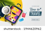 time to travel. summer vacation ... | Shutterstock .eps vector #1944620962