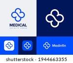 medical infinity cross app logo ... | Shutterstock .eps vector #1944663355