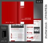 vector red brochure template... | Shutterstock .eps vector #194469836