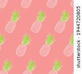 fresh green pineapples vector... | Shutterstock .eps vector #1944720805