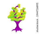 alien mushroom. fabulous... | Shutterstock .eps vector #1944726895