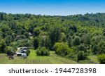 Aerial View Of A Rural Village...